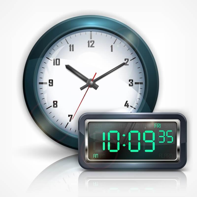 perbedaan jam analog dan digital