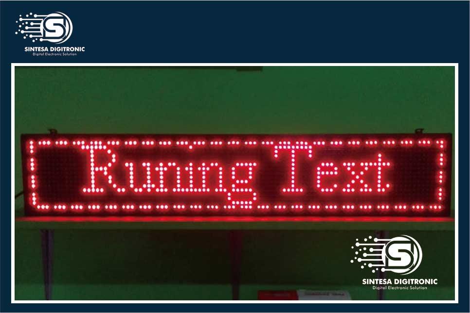 produsen running text