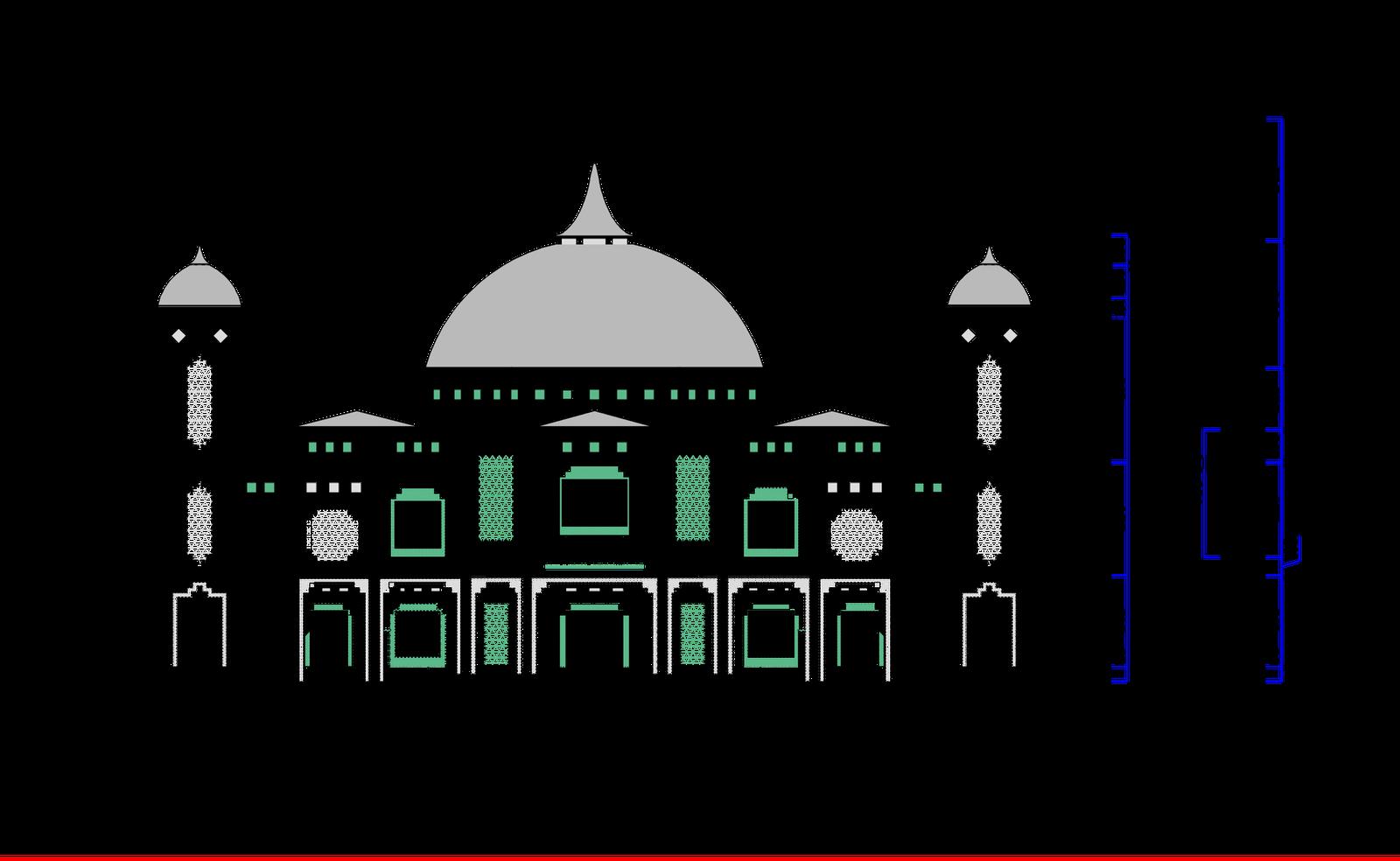 Denah Masjid 2 Lantai