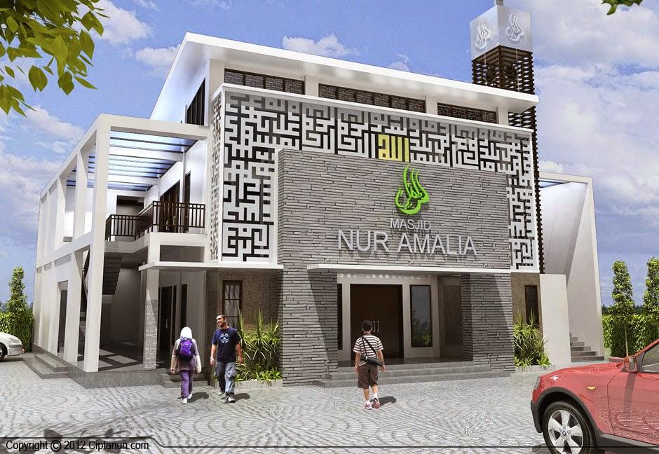 Desain Masjid Modern 2 Lantai