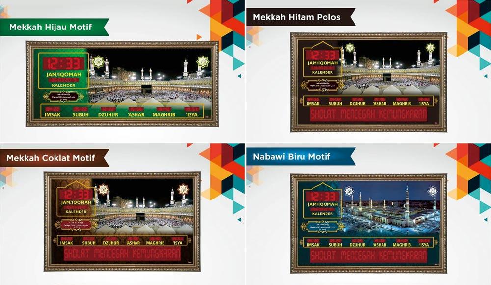 desain jam masjid digital